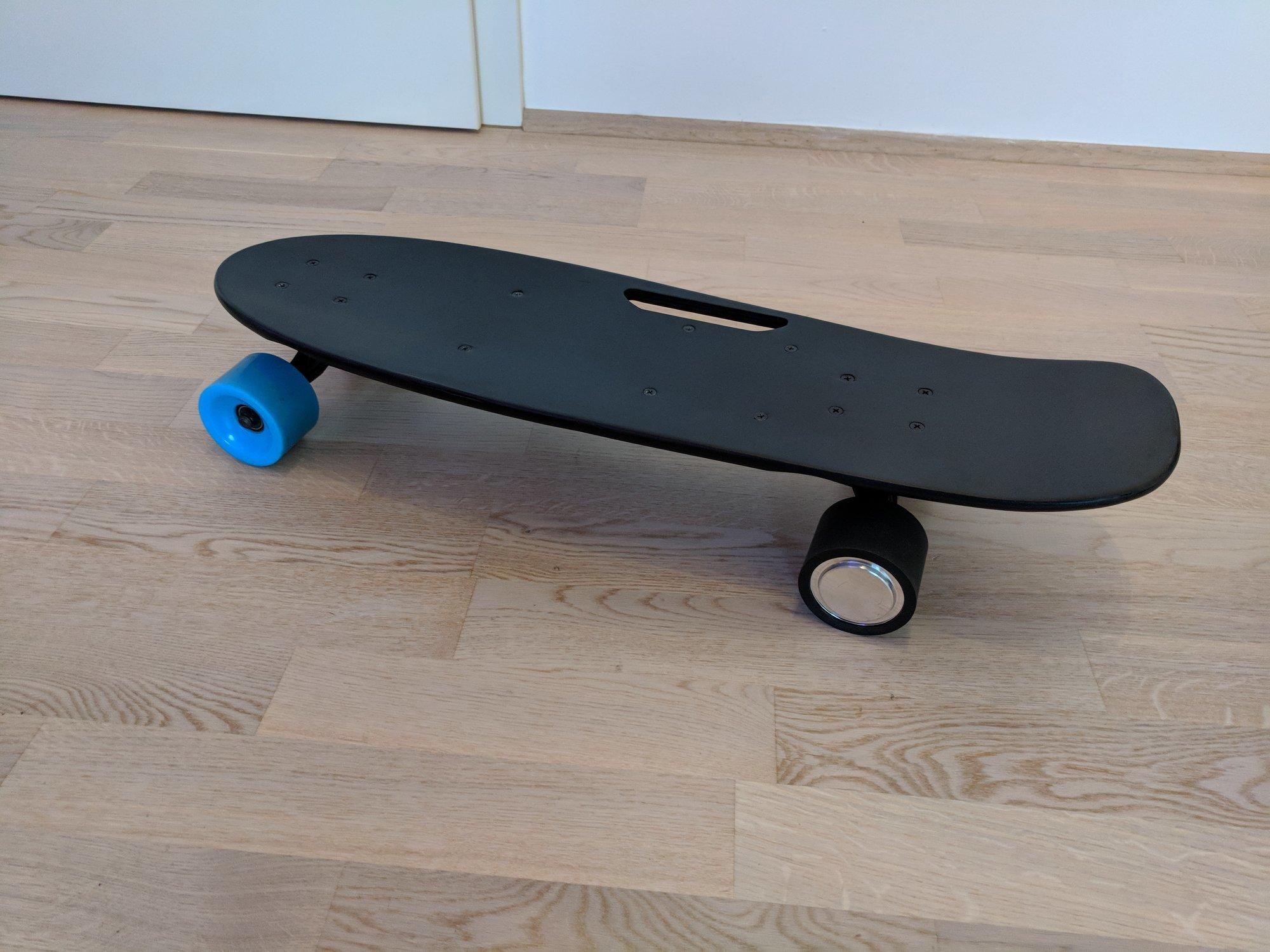 The electric Cool&Fun skateboard top side