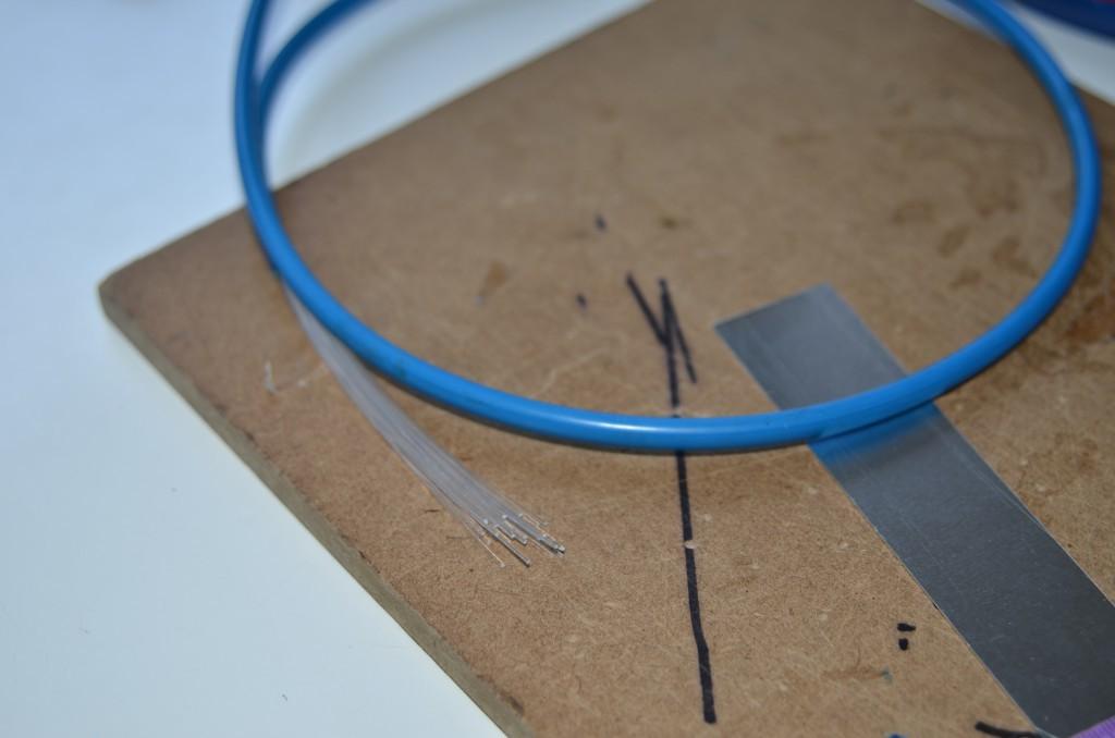 Lichtleiter vor dem Zuschnitt