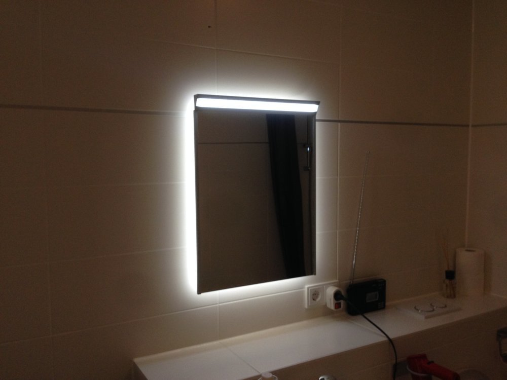 My Ikea Tradfri compatible DIY design LED mirror