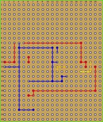 Platinen-Layout der Schaltung (untere Ebene)