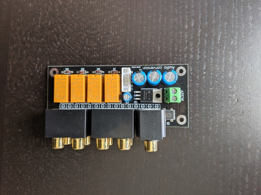The unmodified audio input selector board from AIYIMA