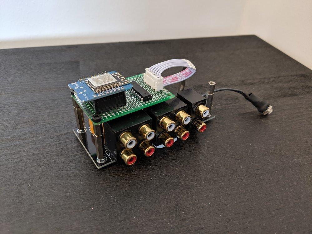 The final MQTT cinch audio channel switcher
