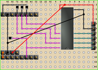 The control board schematics - bottom side