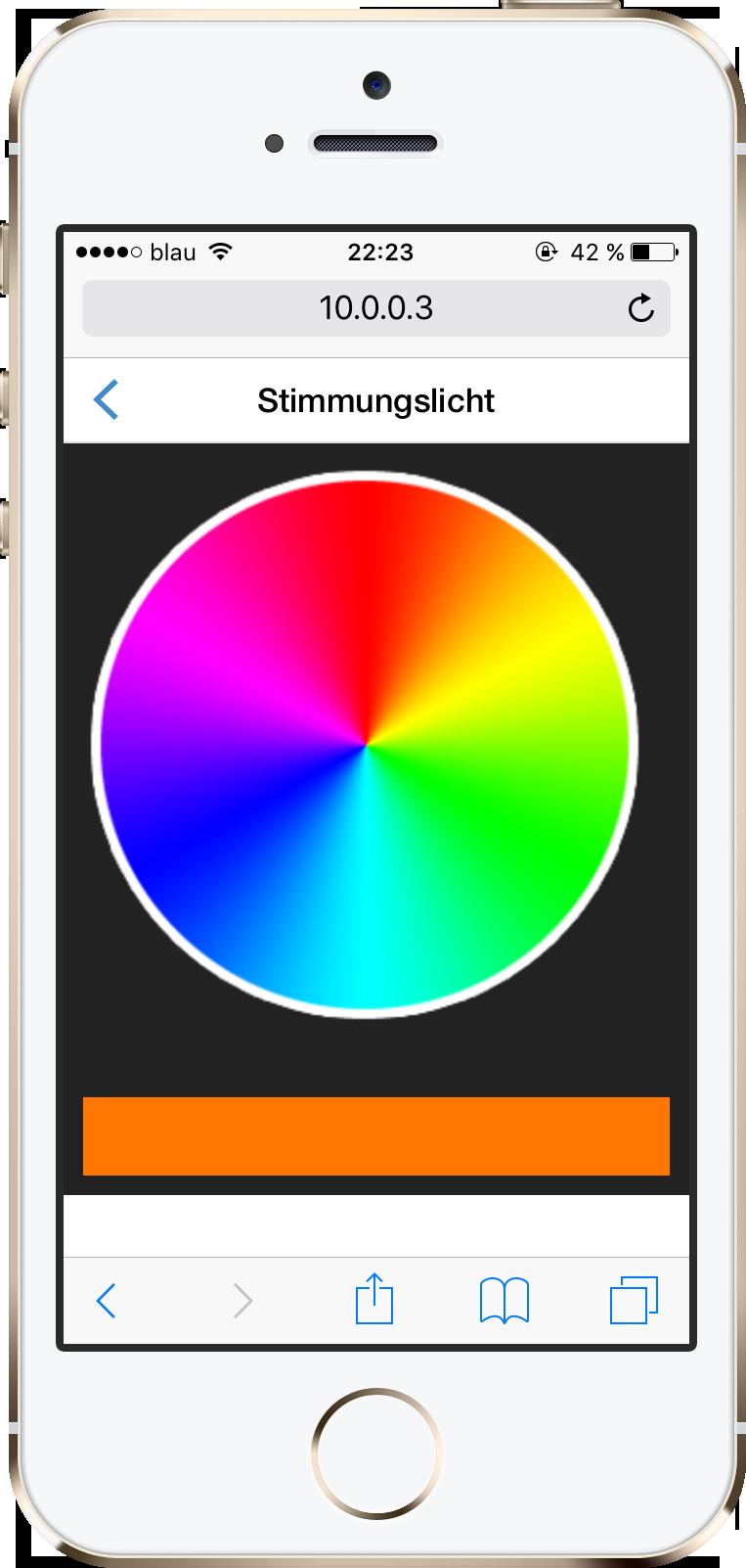 Web-App Stimmungslicht