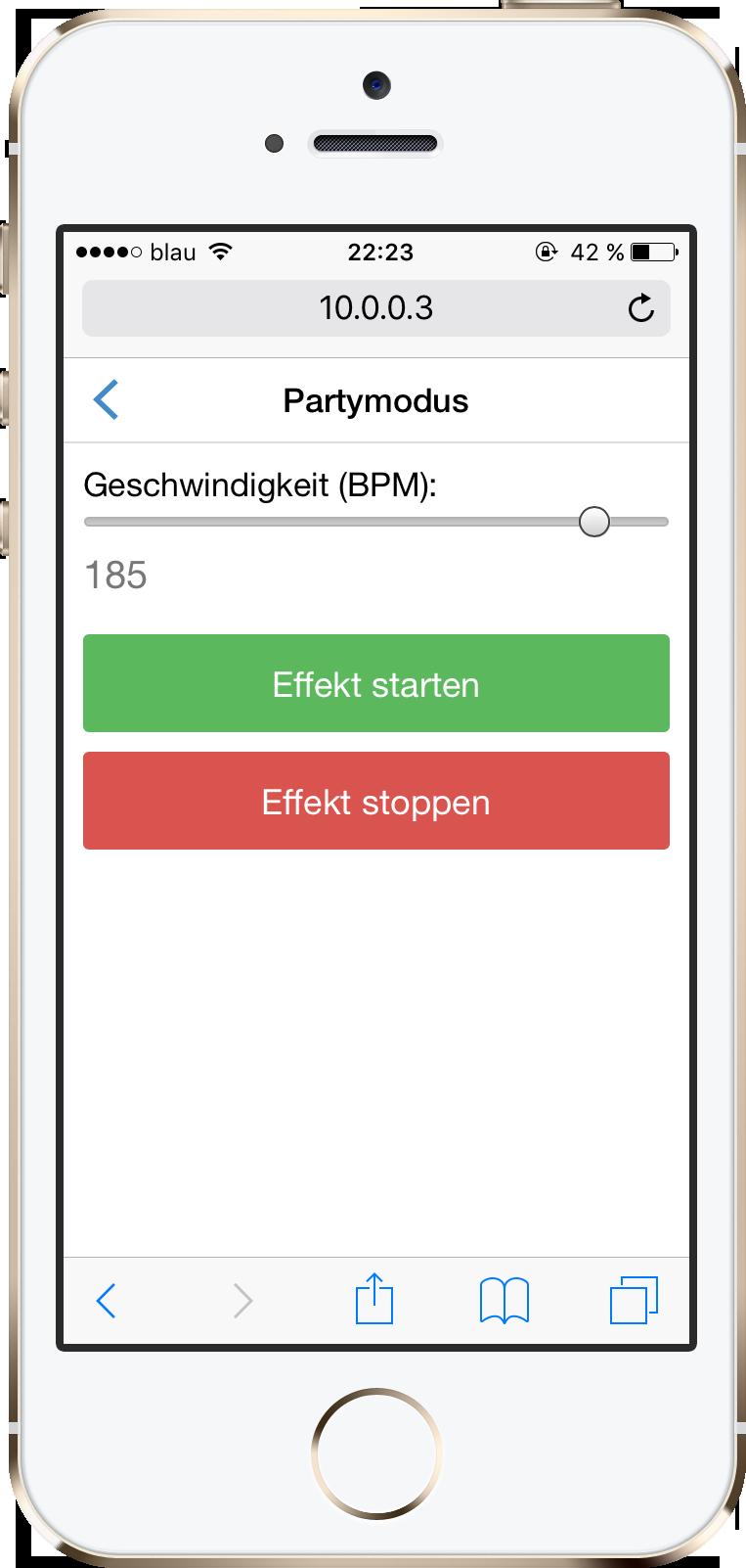 Web-App Partymodus